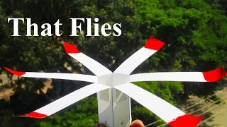 How to make a paper helicopter that flies
