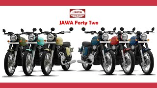 New Jawa Forty Two colours and 360 views