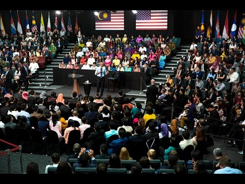 The President Speaks at a Young Southeast Asian Leaders Initiative Town Hall
