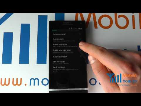 How To Change The Message (sms & Email) Alert Tone ringtone - Sony Xperia S video