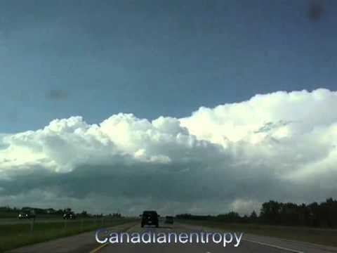 Calgary to Penhold - Queen Elizabeth II highway Northbound - time lapse