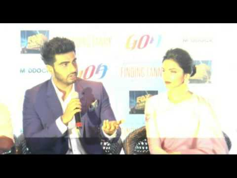 ARJUN KAPOOR AND DEEPIKA PADUKONE @ PC OF GOA TOURISM