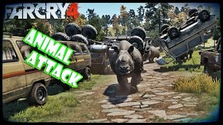Far Cry 4 Animal Attacks (Epic Moments) By TGamingK