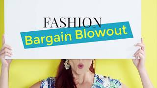 FASHION BARGAIN BLOWOUT at Evine