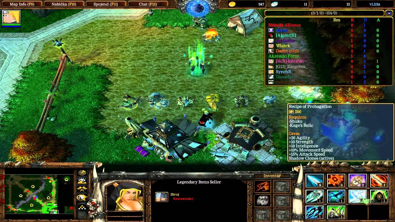 Здесь вы найдете лучшие аниме Наруто карты и аниме модели для Warcraft 3, Н