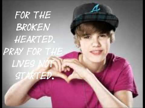 Pray- Justin Bieber (lyrics) video
