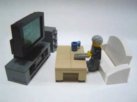 How to build lego furniture 3 seater