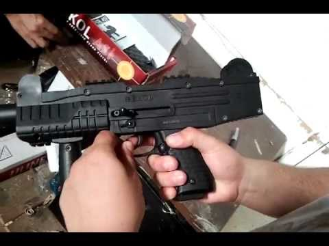 UZI Fully Automatic Blank Firing Machine Gun Demo