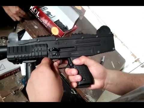 UZI Fully Automatic Blank Firing Machine Gun Demo