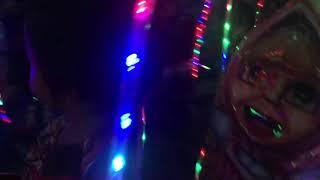 Aurora naik Odong-odong di Gandul