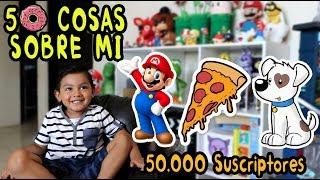 50 COSAS SOBRE MI | Juego Favorito Mario Bros | Karim Juega Especial 50000 Suscriptores