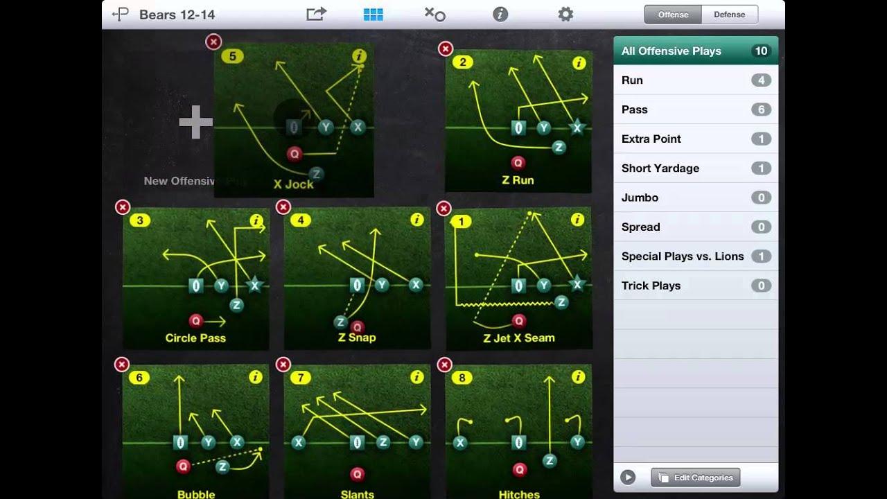 Rearrange Plays - Flag Football Playmaker iPad App v2.0 ...
