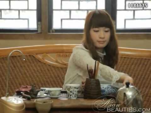 Asianbeauties: Chinese Woman Yanling Showing Tea Ceremony. video