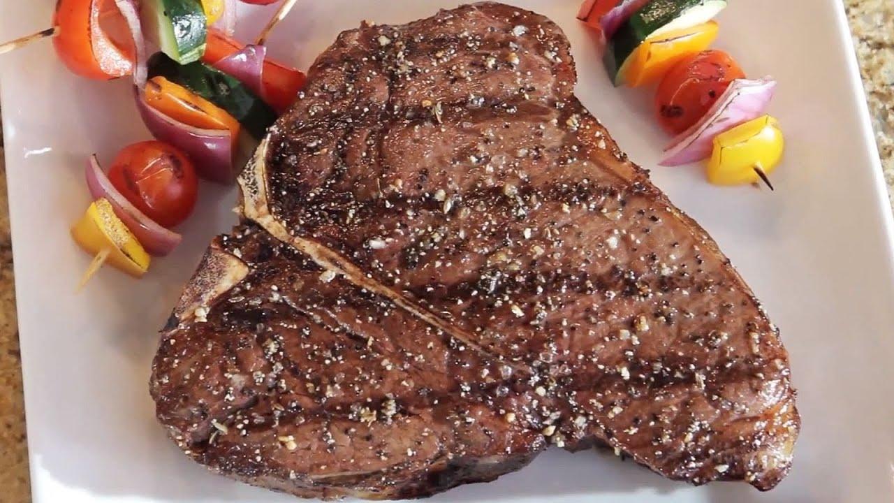 Cooking with omaha steaks the t bone youtube for Porterhouse steak vs t bone