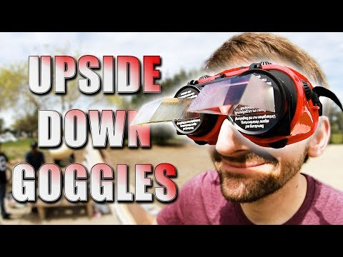 UPSIDE DOWN GOGGLES HARDEST STUPID SKATE EVER!?