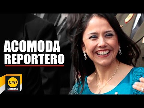 Nadine Heredia acomoda a reportero de TV perú en el Cusco