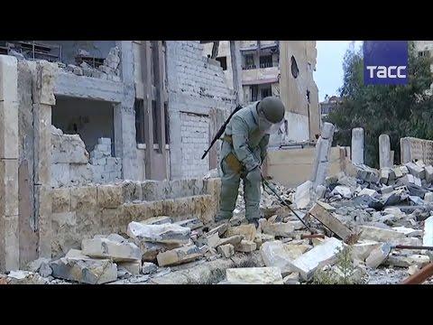 Российские саперы начали разминирование кварталов восточного Алеппо