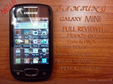 Samsung Galaxy Mini Review | FULL Cons & Pros By Android Techmac!