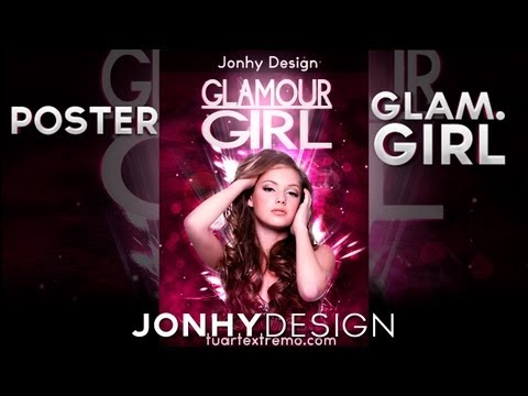 Tutorial Photoshop - Poster Glamour Girl