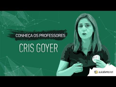 Conheça os Professores #20 - Cris Goyer - Português - Interpretação de Texto