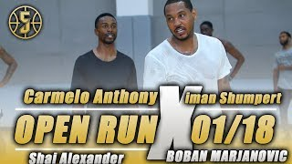 Carmelo Anthony Shuts down Open Run vs Iman Shumpert