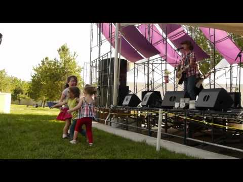 Ghostowne with three cute girls dancing - Live from Utah Arts Festival 2012