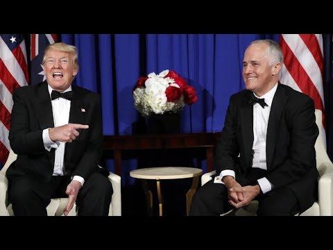 Listen to the leaked audio of Australian Prime Minister Malcolm Turnbullв mocking Trump
