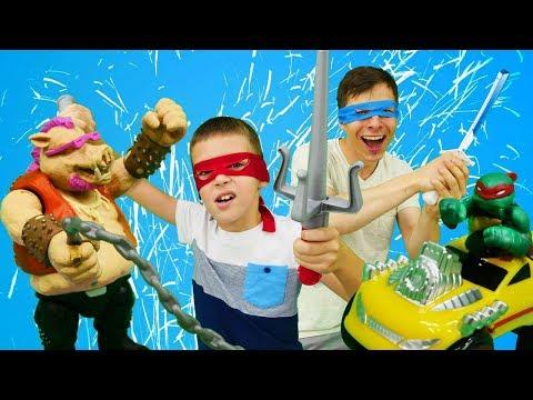 Черепашки НИНДЗЯ vs Бибоп. Игры черепашки ниндзя для детей
