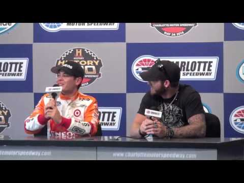 NASCAR Driver Kyle Larson on his Brantley Gilbert Logo