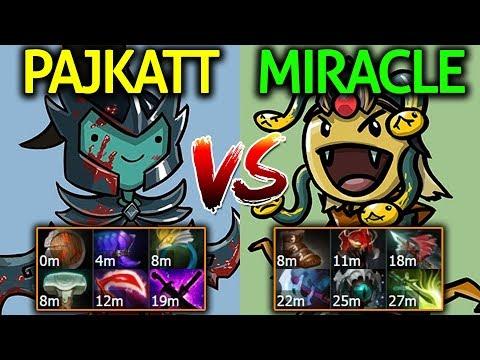 Miracle- [Medusa] vs Pajkatt [Phantom Assassin] Dota 2 7.07 | EU Ranked