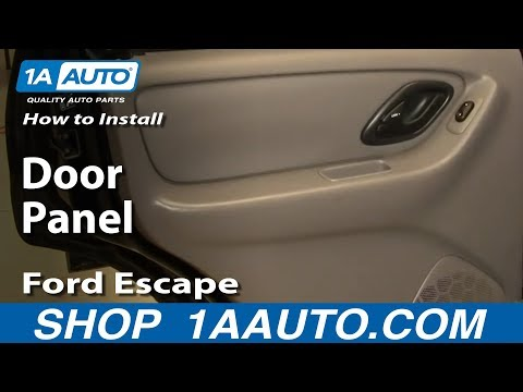 How To Install Replace Remove Rear Door Panel Ford Escape 01-07 1AAuto.com