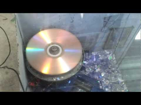 Three CDs destroyed at once at 30000RPM