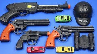 Box Full of Toys with Toy Guns Toys for Kids ! Black Colored Toys with Realistic Military Toy Guns