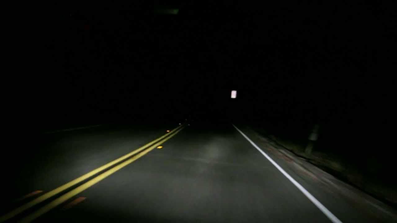 Driving Down Winding Road At Night Youtube