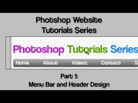 0 Photoshop Website Design Tutorial 1   Getting Started With Menu Bar and Header Design