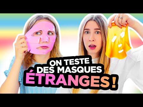 ON TESTE DES MASQUES ÉTRANGES!   2e peau