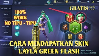 LUCKY SPIN | HOW TO EASILY GET THE GREEN FLASH - MOBILE LEGENDS SKIN LINE