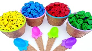 Learn Colors w/ Ice Cream Candy Smile Surprise Egg Finding Nemo, DIY How to Make Kinetic Sand Mask