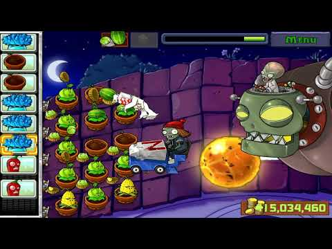 PLANT VS ZOMBIE DEET THE ZOMBOS END ROOF