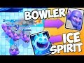 CRAZY BOWLERS! Clash Royale NEW BOWLER & ICE SPIRIT Cards!!