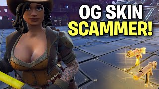 I let a scammer 1v1 me for his guns back! 🤯 (Scammer Get Scammed) Fortnite Save The World