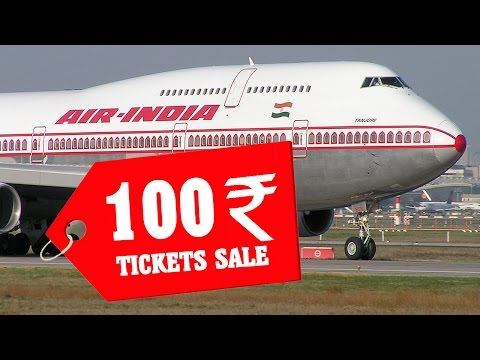 Air India Ticket for Rs 100 : Special Offer Limited -  Special Booking Website Offer online
