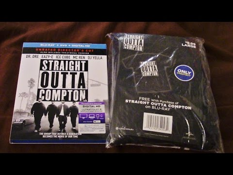 Straight Outta Compton Blu-Ray/DVD Combo With Best Buy T-Shirt Review/Unboxing (HD)