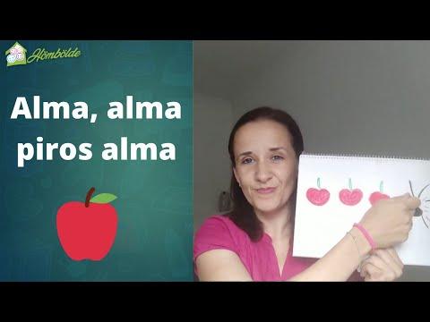 Alma, alma, piros alma - Beszédindító mondóka
