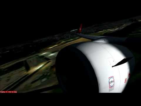 FSX Pmdg 737 Turkish Airlines Night Takeoff&Landing - St.Marteen [ HD ]