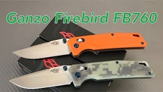 Ganzo Firebird FB760 Knife  the G-Lock is better and the design is great Ganzo gets smooth