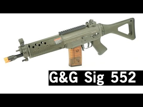 Airsoft GI - G&G Sig 552 Airsoft Gun Review with Bob the Axe Man