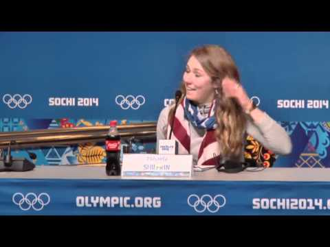 Shiffrin Talks About Slalom Gold, and Mascara