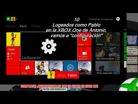 Tutorial para compartir juegos digitales de XBOX One con amigos