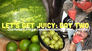 JUICING FOR HEALTH AND WEIGHT LOSS ! Day TWO! WATERMELON JUICE